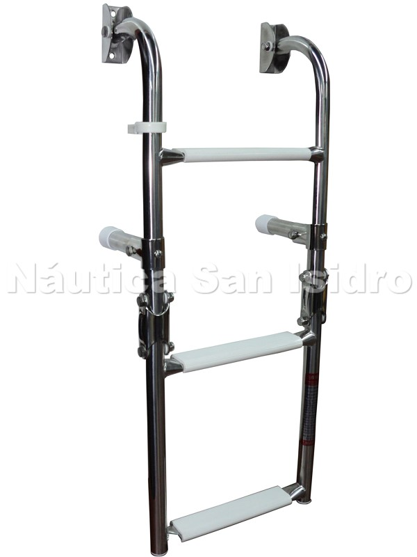 ESCALERA REBATIBLE INOX. 3 ESCALONES 250x630mm
