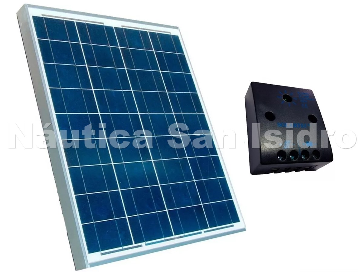 PANEL SOLAR 10w + REGULADOR SOLARTEC KIT