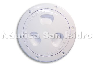 TAPA INSPECCION ESTANCA 4'' BLANCA